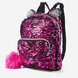 😽JUSTICE Flip Sequin Kitty Mini Backpack😻